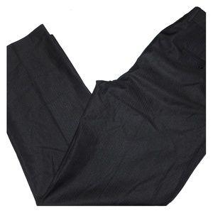 MENS Perry Ellis Black Pinstriped Dress Pants